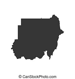 Sudan map silhouette