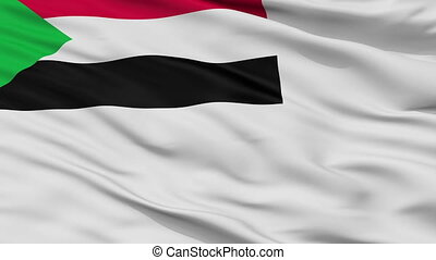 Sudan Naval Ensign Flag Closeup Seamless Loop - Naval Ensign...