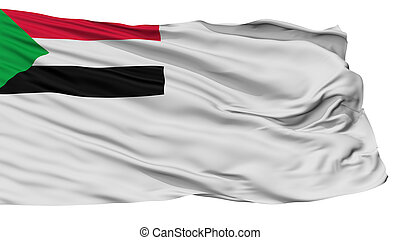 Sudan Naval Ensign Flag, Isolated On White Background, 3D ...