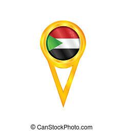 Sudan pin flag