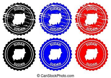 Sudan - rubber stamp - vector, Republic of the Sudan (North...