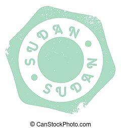 Sudan stamp rubber grunge