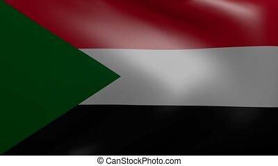sudan strong wind flag