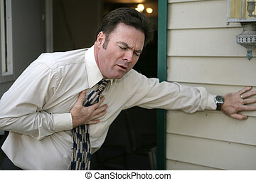 Sudden Chest Pain - A middle aged man experiencing sudden...