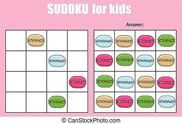 Sudoku game for children. Kids activity sheet
