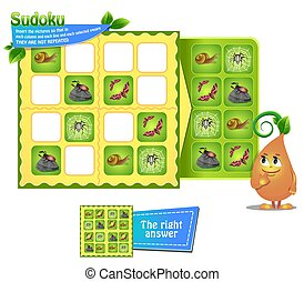 Sudoku game  insects
