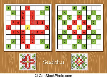 Sudoku hard level vector set
