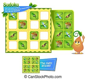 Sudoku kids game insects