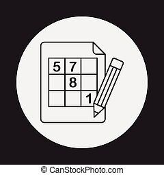 Sudoku line icon