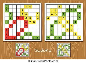 Sudoku middle level vector set