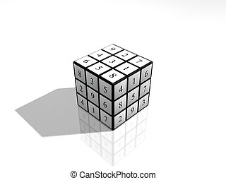 sudoku numbers cube puzzle - puzzle cube Sudoku
