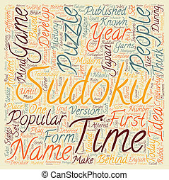 sudoku text background wordcloud concept