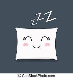 sueño, almohada, zzz., cerrado, latigazos