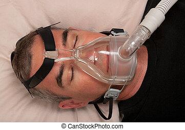 sueño, apnea, y, cpap