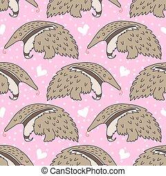 sueño, lindo, oso hormiguero