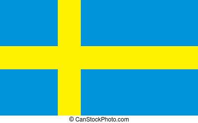 Suecia, bandera, imagen