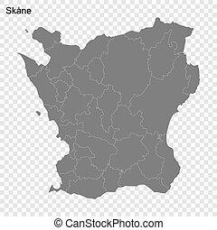 suecia, calidad, condado, alto, mapa
