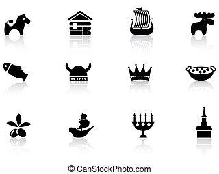 sueco, iconos