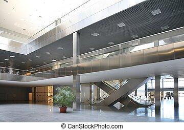 suelo, piso, de, centro comercial