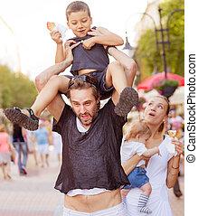 Suffering devoted parents kids