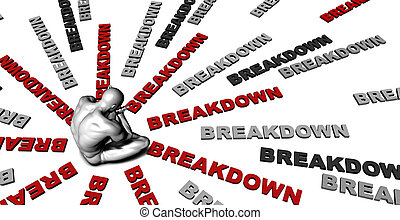 Breakdown - Suffering From Breakdown with a Victim Crying...