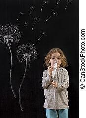 Suffering from seasonal pollen allergy - Little boy having...