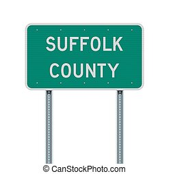 Suffolk County road sign