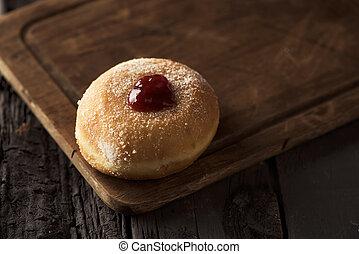 sufganiyah, Jewish donut eaten on Hanukkah