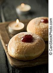 sufganiyot, Jewish donuts eaten on Hanukkah
