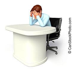 sufrimiento, hombre, servicio, dolor de cabeza