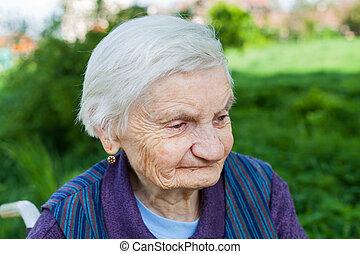 sufrimiento, mujer, demencia, anciano