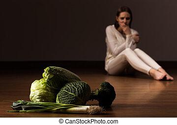 sufrir, nervosa, anorexia