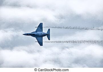 sugárhajtású repülőgép, on the levegő
