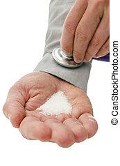 Sugar addiction concept