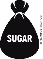 Sugar bag icon, simple style