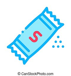 Sugar Bag Icon Vector Outline Illustration