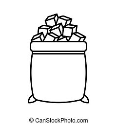 sugar bags isolated icon