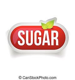 Sugar button icon red