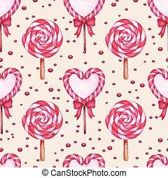 sugar candies seamless background
