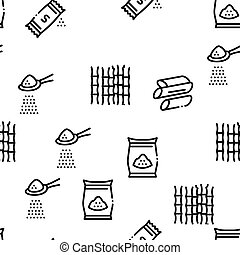 Sugar Cane Agriculture Seamless Pattern Vector