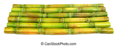 Sugar cane over white background