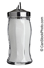 sugar container sweet food - close up of sigar containet on...