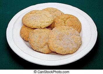 Sugar cookies - sugar cookies on a plate
