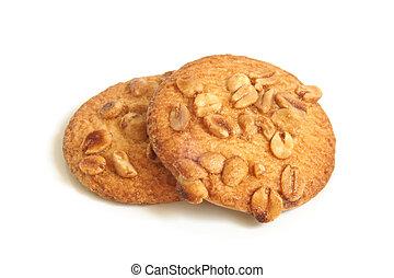 Sugar cookies with peanuts