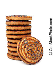 Sugar cookies with poppy-seed