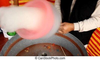 Sugar cotton wool - making sweet Sugar cotton wool