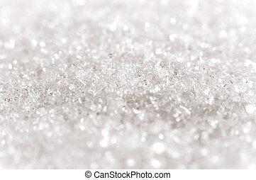 Sugar crystals close-up