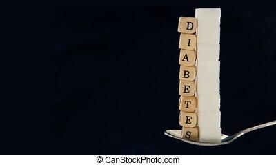 Sugar cubes and diabetes dice vanis