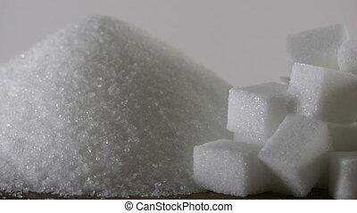Sugar cubes, close up