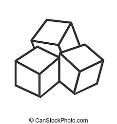 sugar cube clip art and stock illustrations 1 414 sugar cube eps rh canstockphoto com rubix cube clip art ice cube clipart